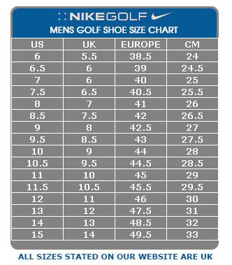 Womens Nike Shoe Size Chart