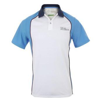 Oscar Jacobson Blake Tour Polo Shirt - White/Blue _ Size: Small