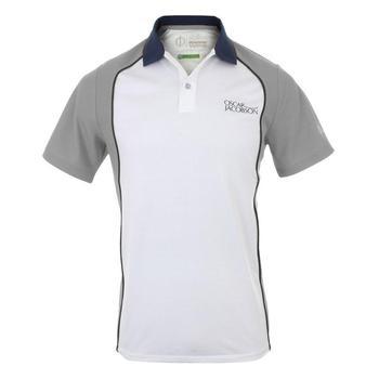 Oscar Jacobson Blake Tour Polo Shirt - White/Grey _ Size: Small