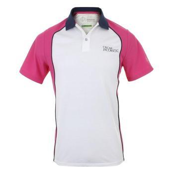 Oscar Jacobson Blake Tour Polo Shirt - White/Pink _ Size: Small
