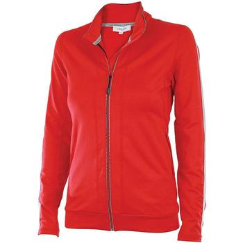 Calvin Klein Ladies Full Zip Performance Tech Pullover - Red (D9)