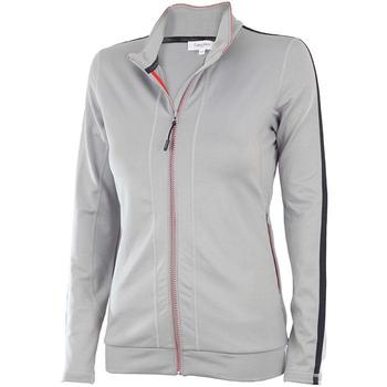 Calvin Klein Ladies Full Zip Performance Tech Pullover - Silver (D9)
