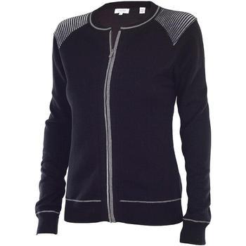 Calvin Klein Ladies Full Zip Lined Sweater - Black (D7)