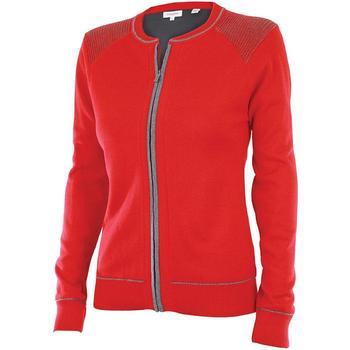 Calvin Klein Ladies Full Zip Lined Sweater - Red (D7)