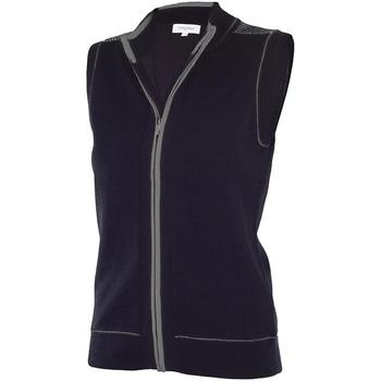 Calvin Klein Ladies Full Zip Lined Sleeveless Sweater - Black (D7)
