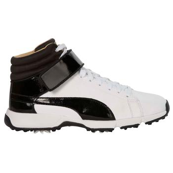 Puma TITANTOUR IGNITE HiTop Junior Golf Shoes  Black  White UK 1