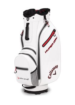 Callaway Hyper Dry Cart Bag  White  Black  Red