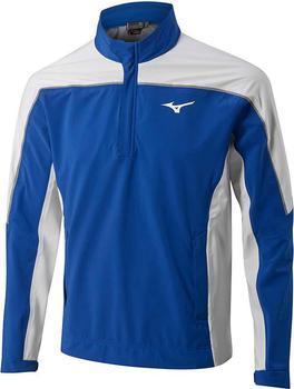 Mizuno Pro 1/4 Zip Rain Jacket – Royal Blue / White