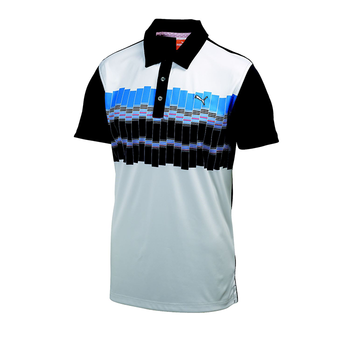 Puma Golf Mens Graphic Tech Polo Shirt