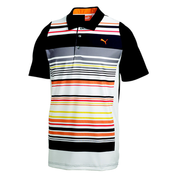Puma Golf Mens Duo Swing Stripe Polo Shirt