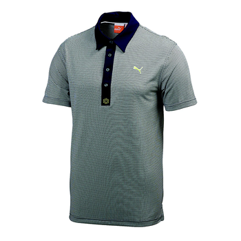 Puma Golf Mens Pattern Tech Polo Shirt
