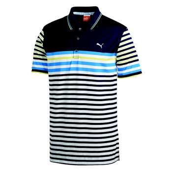 Puma Golf Mens Novelty Stripe Polo Shirt