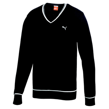 Puma Golf Men's Solid Cotton V Neck Sweater
