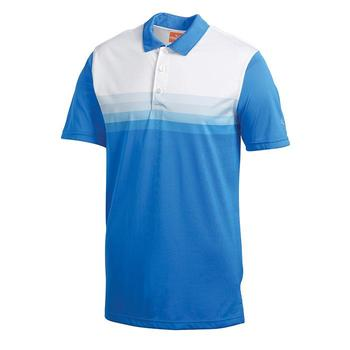 Puma Junior Tech Yarn Dye Stripe Cresting Golf Polo Shirt