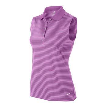 Nike Ladies Tech Striped Sleeveless Polo Shirt - (585881-584) Size: X Small