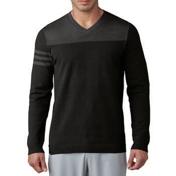 Stockists of Adidas Club 3-Stripes V-Neck Sweater - Black Medium