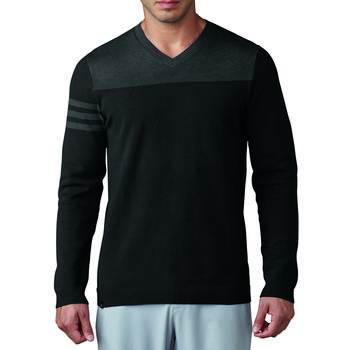 Image of Adidas Club 3-Stripes V-Neck Sweater - Black Medium