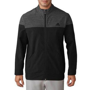 Image of Adidas Hybrid Heather Jacket Mens Large Black/Black Heather