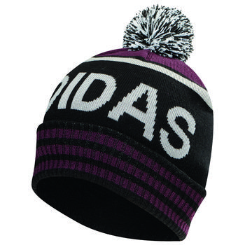 Image of Adidas Pom Beanie Hat - Black