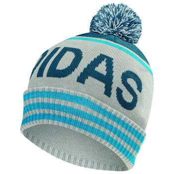 Image of Adidas Pom Beanie Hat - Grey