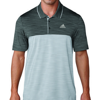 Image of Adidas Ultimate 365 Heather Polo Shirt - Black/Grey Medium