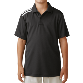 Stockists of Adidas Boys Climacool 3 Stripes Polo - Black