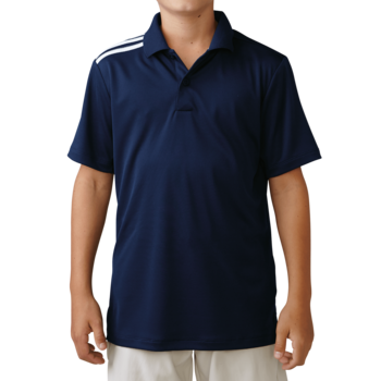 Image of Adidas Boys Climacool 3 Stripes Polo - Navy