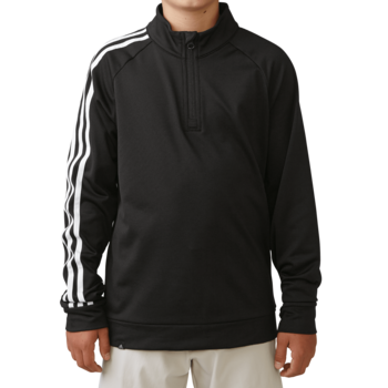 Stockists of Adidas Boys 3 Stripe 1/2 zip Jacket - Black