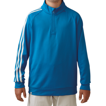 Stockists of Adidas Boys 3 Stripe 1/2 zip Jacket - Blue