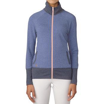 Image of Adidas Ladies Rib Knit Jacket - Purple