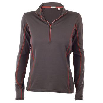 Green Lamb Ladies Zip Neck Tech Shirt