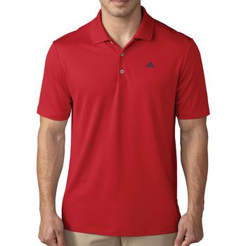 Image of Adidas Performance Polo Shirt - Scarlet Gender: Mens, Size: Small, Colour: Scarlet