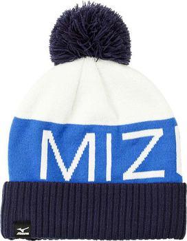 722d1a4cad6 Mizuno Bobble Hat White Light Blue Dark Blue