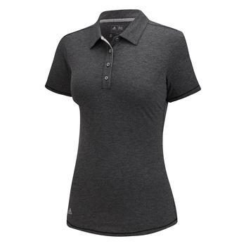 Image of Adidas Essential Heather Short Sleeve Polo - Black Heather
