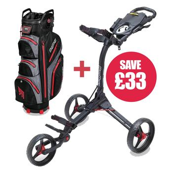 Image of BagBoy Compact 3 Trolley + Cart Bag Combo