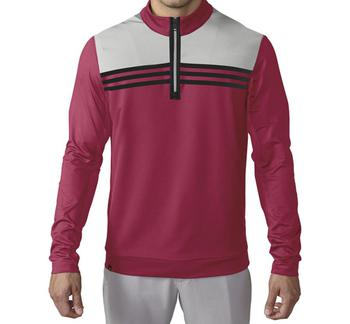 Image of Adidas Climacool Colourblock 1/4 Zip Layer - Unity Pink / Stone / Black