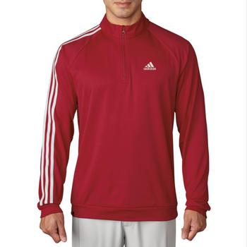Stockists of Adidas 3 Stripe 1/4 Zip LC Pullover - Red