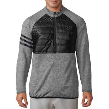 Image of Adidas Climaheat Quilt Half Zip Jacket - Black Medium