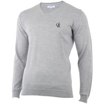 Calvin Klein Merino V-Neck Sweater Slim Fit 2013 - Silver (D10)
