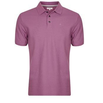 Calvin Klein Manhattan Radical Cotton Pique Polo Shirt - Lilac - Size: X Large (D11)