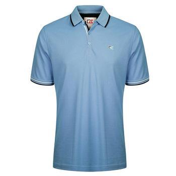 Cutter & Buck Ernest Pique Polo Shirt - Blue - Size: Medium (D15)