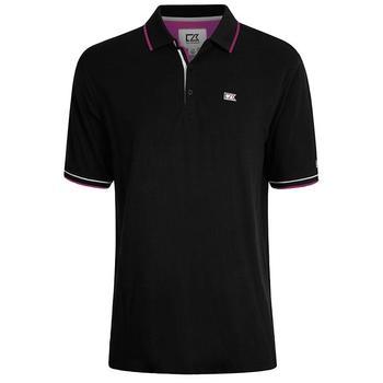 Cutter & Buck Ernest Pique Polo Shirt - Black - Size: Large (D15)