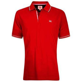 Cutter & Buck Ernest Pique Polo Shirt - Red - Size: Medium (D15)