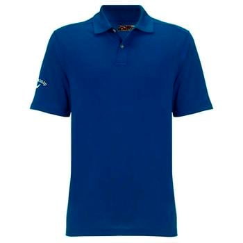 Callaway Mens Textured Solid Polo Shirt - Peacoat Blue (C2)