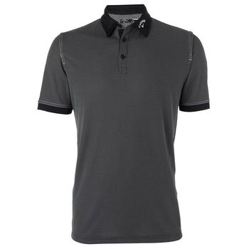Callaway Mens Chambray Short Sleeve Polo Shirt - Caviar (C1)