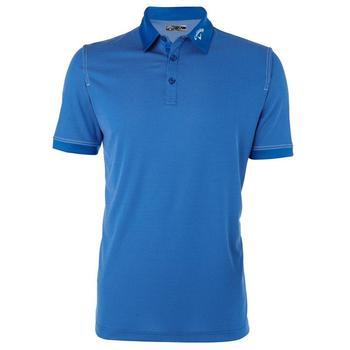 Callaway Mens Chambray Short Sleeve Polo Shirt - Magnetic Blue (C1)
