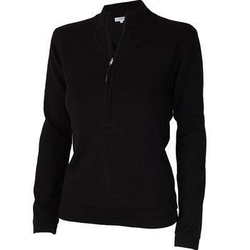Calvin Klein Ladies Weather Tech 1/2 Zip Lined Sweater - Black - Medium (D7)