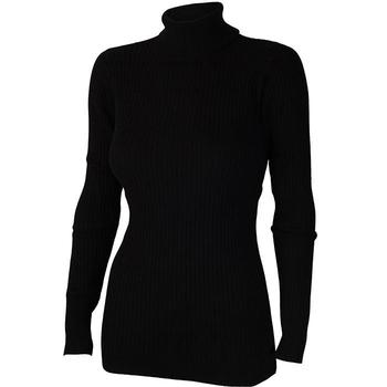 Calvin Klein Ladies Knit Roll Neck Sweater - Black - Small (D7)