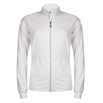 Calvin Klein Ladies Zip Neck Long Sleeve Polo - White (D14)