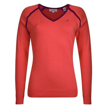 Calvin Klein Ladies Vista Sweater - PinkCode - Size: Small (D13)